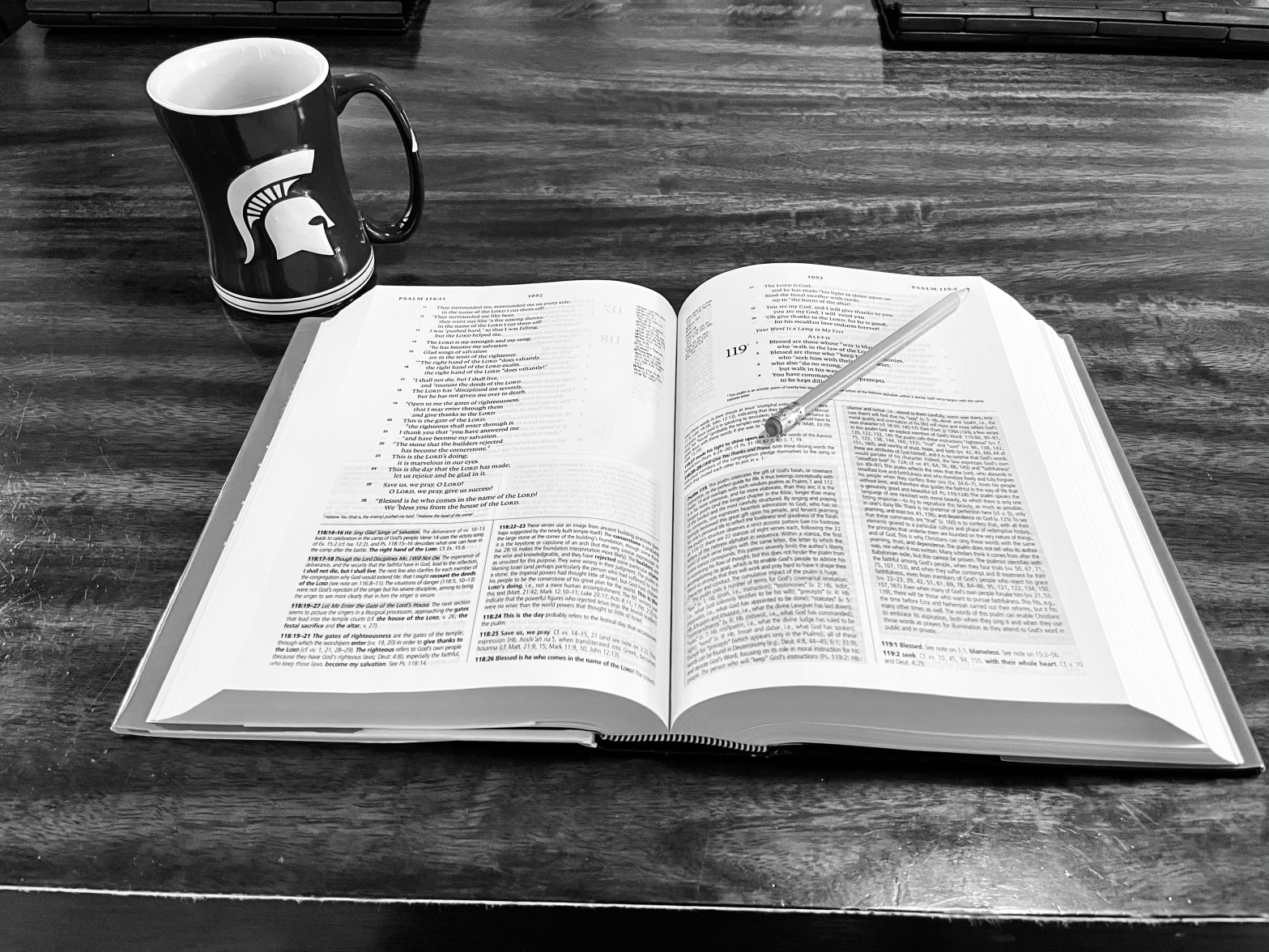 Study Bible and Morning Coffee